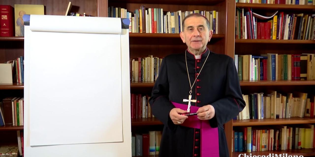 Le tre parole dell'Arcivescovo per i Cresimandi Aperto il flash mob dei ragazzi su Instagram
